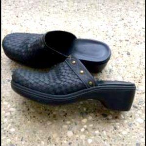 Ecco Basketweave Leather Clogs. 10 US/ 41, EUC